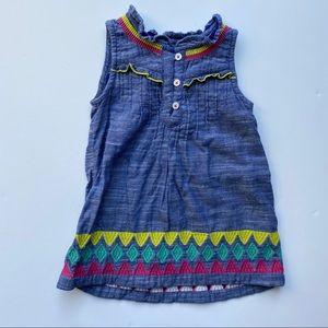 Hatley | Embroidered Denim Dress